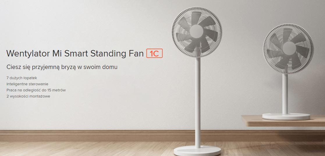 Wentylator domowy podłogowy Xiaomi Mi Smart Standing Fan 1C Biały