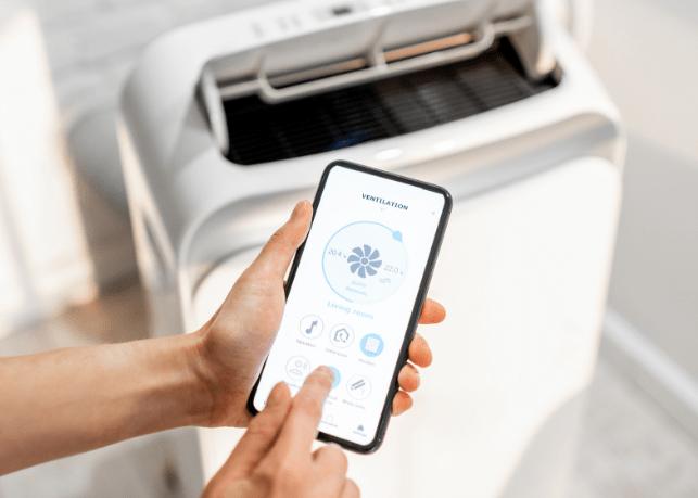 Aplikacja mobilna dla klimatyzatorów przenośnych
