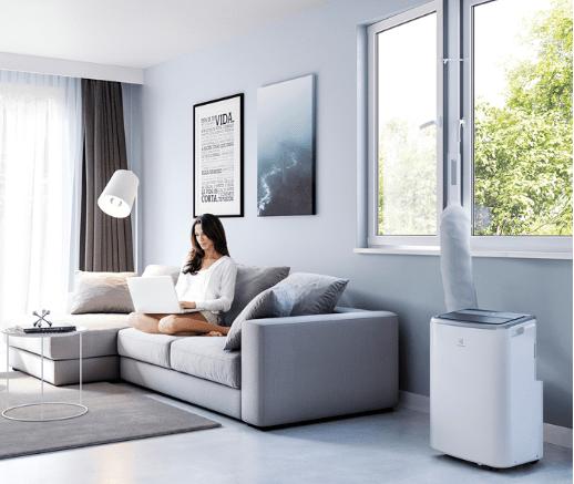 Klimatyzator przenośny Electrolux exp34u338hw w mieszkaniu