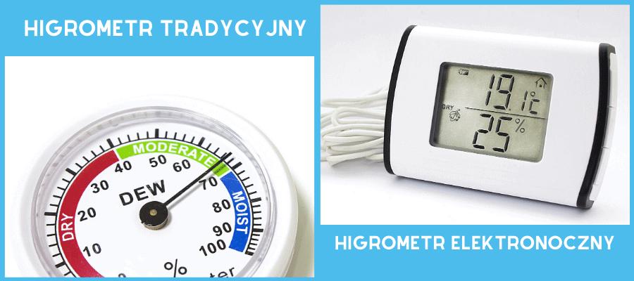 Higrometr tradycyjny i elektroniczny
