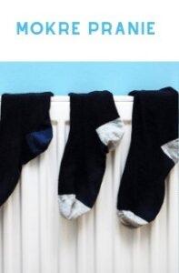 Mokre pranie na grzejniku - sposobem na suche powietrze