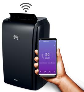 Klimatyzator przenośny Eberg Cooly C35HD aplikacja mobilna