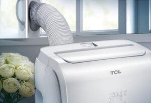 Klimatyzator przenośny TCL TAC-09CPB rura wyrzutowa