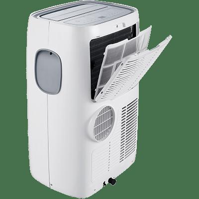 Klimatyzator przenośny Lindab LIN-12LHPB/KA tył wraz z filtrem wstępnym