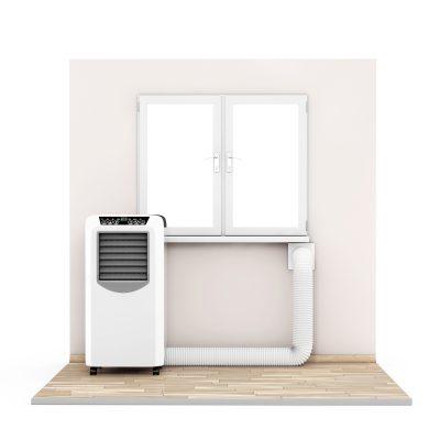 montaż klimatyzatora przenośnego przez otwór w ścianie